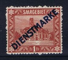 Deutschland Saargebiet Dienst Marken, Mi 11 Type I MH/* - Officials