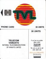 VANUATU - TVL Logo 30 Units, CN : 0467772/C98034493, Used - Vanuatu