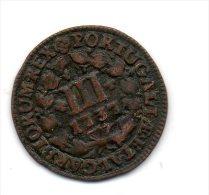 Portugal - III Reis (D.JOAO V ) 1737 , Cobre -EF - Portugal