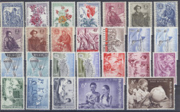 1960.Volledige jaargang (55 zegels**+ blok 32 ** postfris zonder scharnier) .OBP 244,5 euro