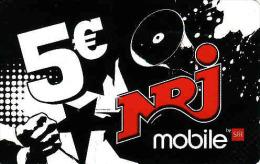 Reunion, Recharge NRJ Mobile Card 5€