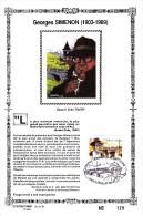 60011v - Sonstamp - Carte Souvenir Simenon Document Philatélique - Belgique - Cob 2579 - Emission Communes - N°129 - Cartes Souvenir