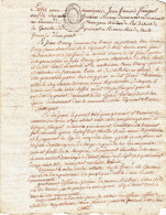 GENEALOGIE MANUSCRIT 4 Pages AN 3 PIRE LA GUERCHE RENNES Concerne FRANGEUL BERNY - Manuscrits