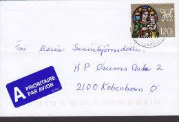 Iceland A Prioritaire Par Avion Label (IP 652) 2009? Cover Brief To Denmark Madonna & Kind Stamp - 1949-... Repubblica D'Irlanda