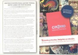 CINZANO HISTORIA Y RECETAS EL LIBRO PARA LOS AMANTES DEL VERMOUTH POSTAL CARTE PUBLICITAIRE - Recepten (kook)