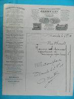 Facture MArseille 1905 Jarry & Cie, Appareils De Chauffage Ventilation - France