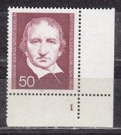Schadow, Untere Rechte Bogenecke, Formnummer 1, Postfrisch (49393) - Ungebraucht