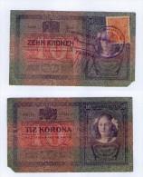 FIUME - 10 KORONA 1904 - 1918  .G. - STAMP -  695 --    STAMP + Mark - Ungarn