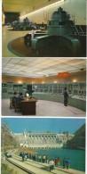 Sinankiang China, River Dam Views Interior Exterior Control Room Computers Generators Lot Of 6 C1980s Vintage Postcards - China