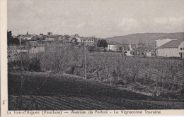 84  LA TOUR D' AIGUES  Av De PERTUIS La VIGNERONNE TOURAINE  Maisons Du VILLAGE EGLISE à Travers CHAMPS 1938