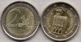 2 EURO San Marino 2005 Stg 35€ Kursmünze Staatlichen Münze Regierungs-Palast 2€ Einzeln Im Stempelglanz Coin Of Republik - San Marino