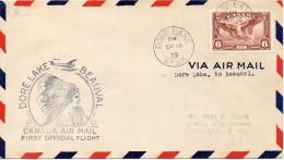 CANADA JOLIE LETTRE ILLUSTREE 1935 - 1911-1935 Règne De George V