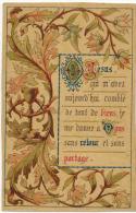 """IMAGE PIEUSE RELIGIEUSE Année 1894 : """" Jésus Qui M""""avez Comblé ... """" Souvenir CARMIGNON Madeleine SELLES Sur Cher - Images Religieuses"""