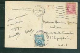 Taxe 2  Francs Type Gerbe  Pour Carte Postale De Plus De 5 Mots En Aout 1946   TAB9608 - Marcofilie (Brieven)