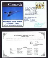 BA First Flight    London - Graz  March 29, 1981 - Concorde