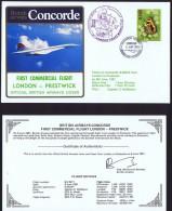 BA  First Commercial Flight  London - Pretwick  June 6, 1981 - Concorde