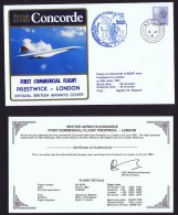 BA  First Commercial Flight  Pretwick  - London   June 6, 1981 - Concorde
