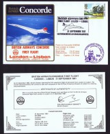 BA   ICI Charter Flight  London - Lisbon  Sept 21, 1981 - Concorde
