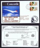 BA   ICI Charter Flight  Lisbon  -  London   Sept 21, 1981 - Concorde
