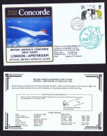 BA   First Flight  London - Amsterdam  Feb 27, 1982 - Concorde