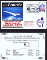 BA   First Flight    London - Rome  Sept. 12, 1982 - Concorde