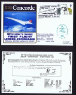BA   First Flight    London - Copenhagen  Sept. 18, 1982 - Concorde