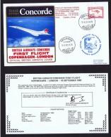 BA   First Flight     Copenhagen  - London   Sept. 18, 1982 - Concorde