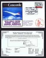 BA   First Flight    London -  Bordeaux     Oct 16, 1982 - Concorde