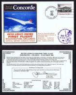 BA   First Flight    Washington -  Orlando  EPCOT Center Opening Oct 15, 1982 - Concorde