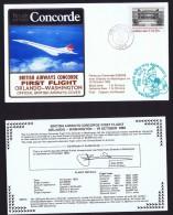 BA   First Flight   Orlando -   Washington   EPCOT Center Opening Oct 19, 1982 - Concorde