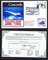 BA   First Flight    London -  Venice   Nov 8, 1982 - Concorde