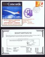 BA   First Flight    Amsterdam  -  London    Feb 27, 1982 - Concorde