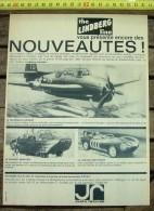 PUB PUBLICITE MAQUETTE LINDBERG GRUMMAN AVENGER CANARD AMPHIBIE JAGUAR MOTORISEE - Vieux Papiers