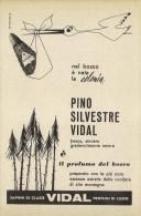 # COLONIA PINO SILVESTRE VIDAL 1950s Advert Pubblicità Publicitè Reklame Perfume Parfum Profumo Cologne Stork - Perfume & Beauty