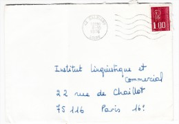 Marcophilie - Lettre Cachet De Départ Balbigny, Loire - 8/10/1976 - Storia Postale
