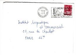 Marcophilie - Lettre Cachet De Départ Montguyon, Charente Maritime - 1/09/1975 - Storia Postale