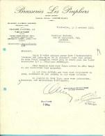 BRASSERIE  LES PEUPLIERS  (BROUWERIJ) 1941 (F641) - Alimentaire