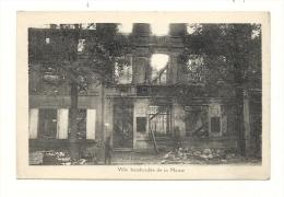 Cp, Militaria, Ville Bombardée De La Meuse - War 1914-18