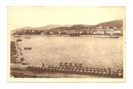 Cp, 20(2B), Bastia, Les Quais Et La Ville, Voyagée - Bastia