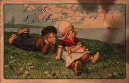 A Bertiglia - Couple Hollandais (tachée) (154-6) - Bertiglia, A.