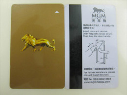 Macao MGM Hotel,corner And Edge Tiny Damaged - Cartes D'hotel