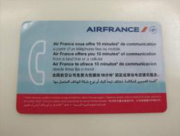Air France Prepaid 10 Minutes Phonecard - Prepaid-Telefonkarten: Andere