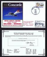 BA  First Flight   Orlando - Bermuda  Oct 14, 1983 - Concorde