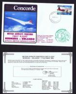 BA  First Flight   Bermuda  -  Orlando  Oct 17, 1983 - Concorde
