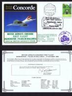 BA  First Flight  Manchester - Palma De Mallorca  Oct 23, 1983 - Concorde