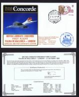 BA  First Flight   Palma De Mallorca  -  London  Oct 21, 1983 - Concorde