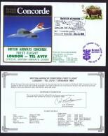 BA  First   Flight    London  - Tel Aviv    March 28, 1984 - Concorde