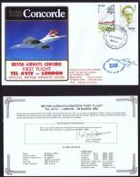 BA  First   Flight     Tel Aviv   -  London   March 29, 1984 - Concorde