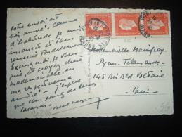 CP TP MARIANNE DE DULAC 50C X3 OBL. 23-8-45 VITRY LE FRANCOIS (51 MARNE) - 1944-45 Marianne De Dulac