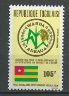 """Togo Aerien YT 464 (PA 464) """" ADRAO """" 1981 Neuf ** - Togo (1960-...)"""